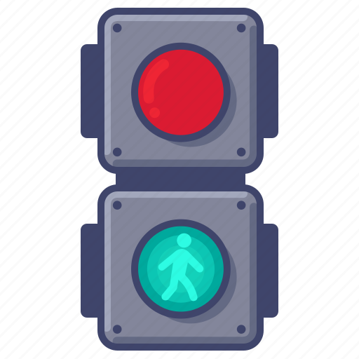 Crossing, lights, traffic icon - Download on Iconfinder