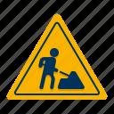 roadworks, sign, traffic icon