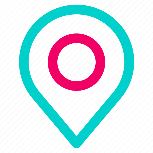 gps, location, navigation, pin icon
