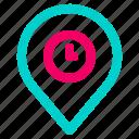 gps, location, navigation, pin, time