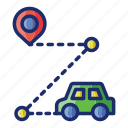 driving, route, location