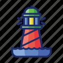 lighthouse, tower, light, sea