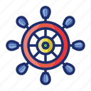 nautical, wheel, marine, steering