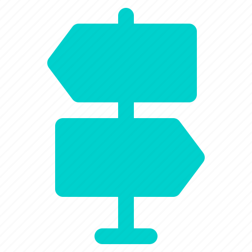 arrow, direction, navigation, signboard icon