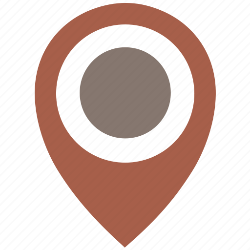 Brown, dot, location, poi, pointer icon - Download on Iconfinder