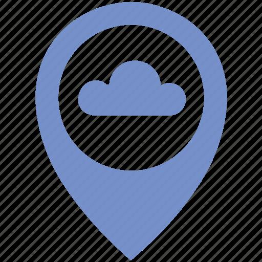 Cloud, location, poi, pointer, rain, weather icon - Download on Iconfinder