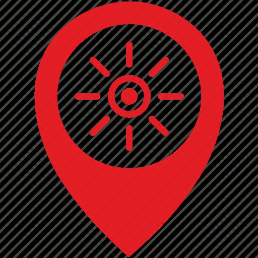 Light, location, poi, pointer, sun icon - Download on Iconfinder