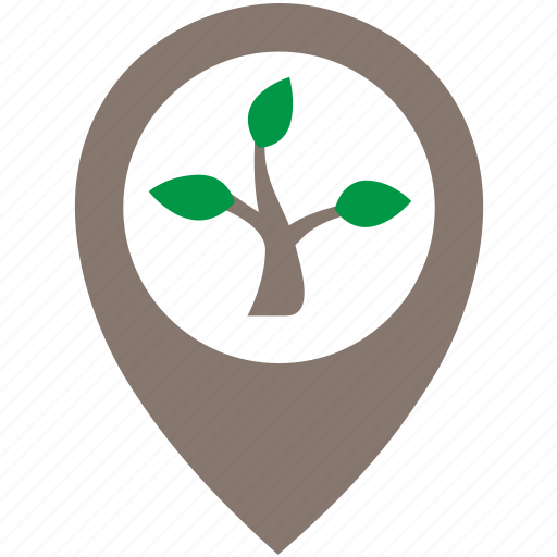 Location, nature, oak, poi, pointer, tree icon - Download on Iconfinder