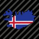 iceland, flag, country, national, nation, world, globe