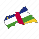 central, african, republic, flag, country