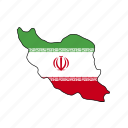 iran, flag, country, national, nation