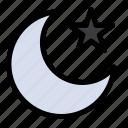 moon, night, star