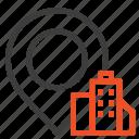 building, hotel, location icon