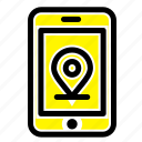 internet, location, mobile icon