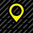 location, map, road, way icon
