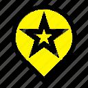 location, navigation, stare icon