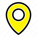 lo0cation, map, pin icon