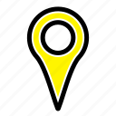 geo, location, map, pin icon