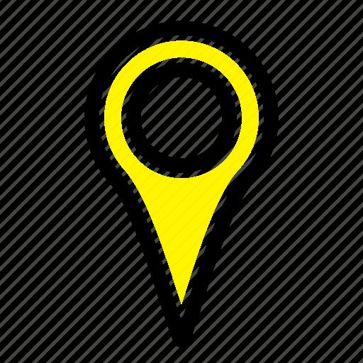 geo, location, map, pin icon