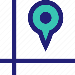 direction, location, map, pin icon