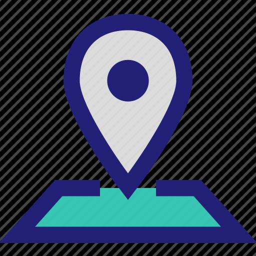 google, locate, maps, pin icon