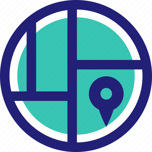 gps, location, map, pin icon