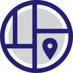 gps, location, map, pin, street icon