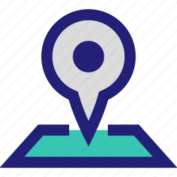 and, google, location, map, pin icon