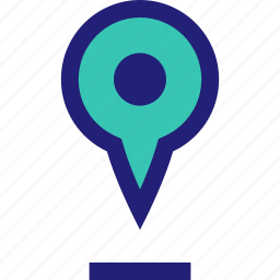 floating, location, pin, up icon