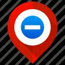 delete, location, map pin, marker, minus, navigation, remove icon