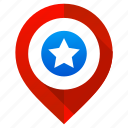favorite, location, map, navigation, pin, pointer, star icon