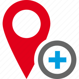 add, address, location, map, pin, plus, route icon
