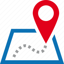 address, destination, location, map, pin, street icon