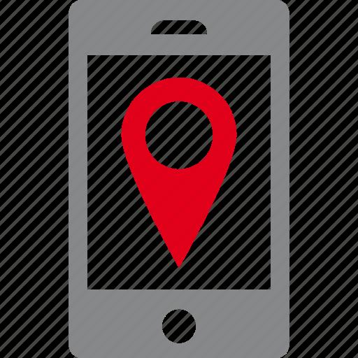 address, destination, gps, location, map, pin, smartphone icon