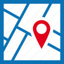 city, destination, map, pin, streets icon