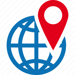 destination, global, map, pin, travel, world icon