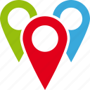 addresses, destinations, map, pins icon
