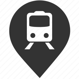 map, pin, pointer, skytrain, subway, train station, transportation icon