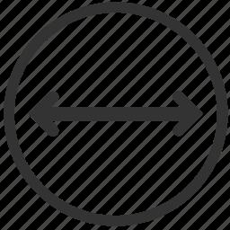 align, area, caliber, calibre, diameter, radius, size icon