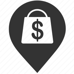 grocery, map, pin, shop, shopping, shopping centre, store location icon