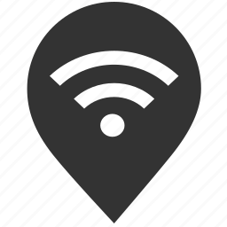 connection, internet, location, network, pin, wifi, wifi area icon