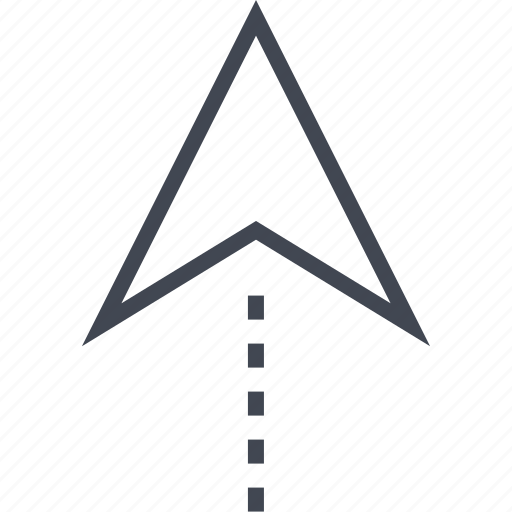 arrow, gps, pin, point, up icon