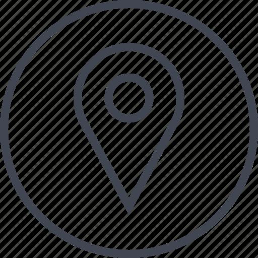 custom, pin, point, pointer icon