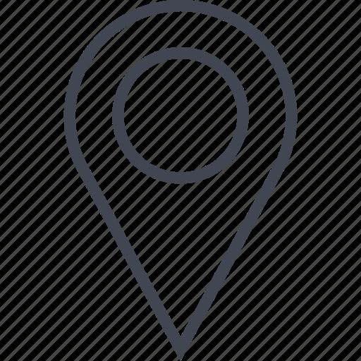navigate, navigation, pin, point icon