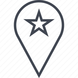 favorite, pin, point, star icon