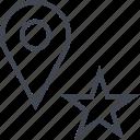favorite, pin, save, star icon