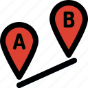 direction, location, map, marker, navigation, pin, route icon