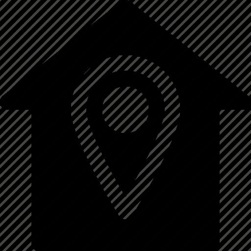 Address, building, home, house, location, marker, navigation icon - Download on Iconfinder