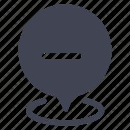delete, location, marker, minus, navigation, pointer, remove icon