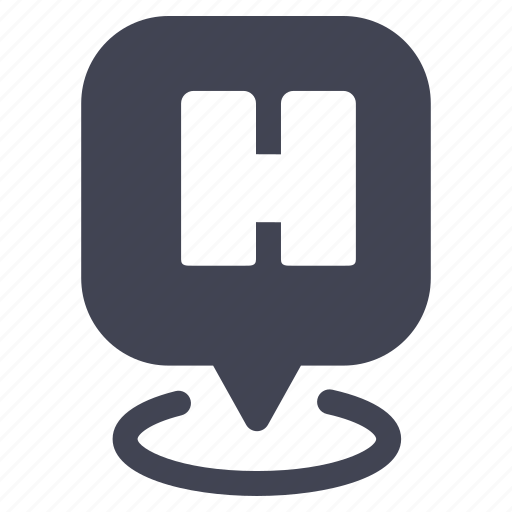 hospital, locations, map, marker, navigation, pointer icon